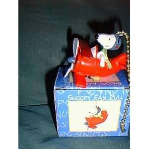 Peanuts Snoopy Flying Ace Fan Pull