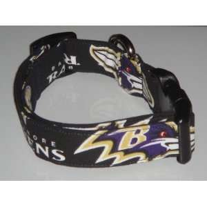 NFL Baltimore Ravens Football Dog Collar Large 1