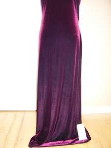 NWT REGGIO Red Wine Velvet Form Fitted Formal Evenning Gown 14