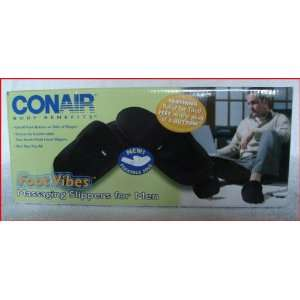 Conair Body Benefits Foot Vibes Massaging Slippers for Men