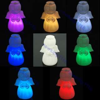 plastic cute angle shape led light change in 7 different colors