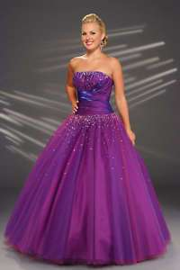 Sexy purple Prom/Ball Dress/Gown Size 6 8 10 12 14
