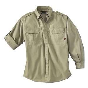 New   Woolrich Mens Long Sleeve Shirt Khaki XL   44902 KH