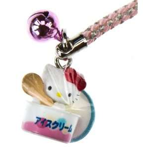 Hello Kitty in an Ice Cream Cup ~0.75 Mini Figure Charm