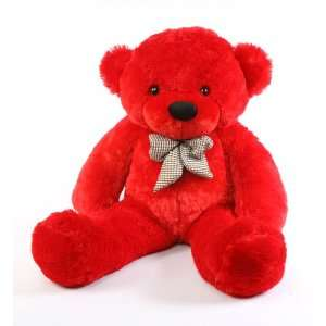 Bitsy Cuddles   38   Super Soft & Huggable, Red Plush teddy Bear, by