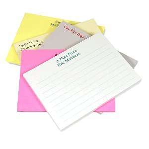 Personalized Post It Note Pads   Classic Size Office