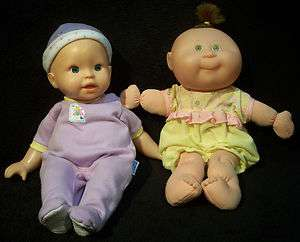 Pair of Cute 13 14 Baby Dolls   Mattel CPK & Mattel/Fisher Price