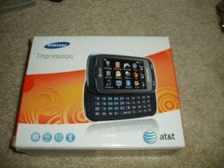 SAMSUNG IMPRESSION AT&T SGH A877 BLUE CELL PHONE & ACCESSORIES WORKS