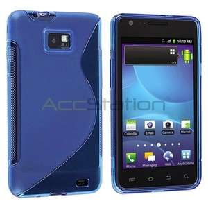 For Samsung Galaxy S2 2 II AT&T i777 New Blue TPU Rubber Cover Skin