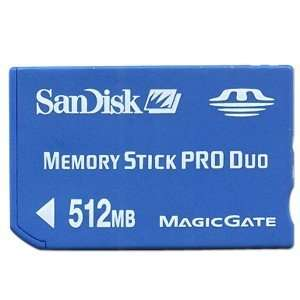 SanDisk 512MB Memory Stick Pro Duo Card Electronics