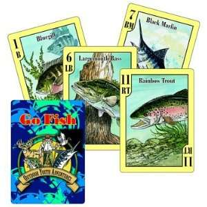 Go Fish Card Game and Fish Identification Cards Toys