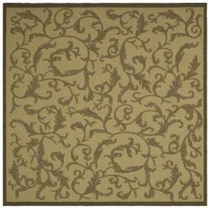 Inch Square Indoor/ Outdoor Square Area Rug, Natural and Brown Home