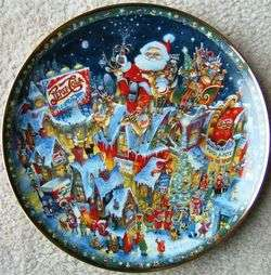 PEPSI COLA CHRISTMAS Franklin Mint Plate 1994 BILL BELL Limited