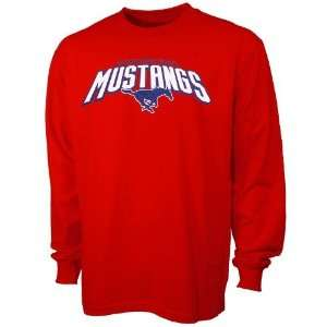 SMU Mustangs Red Big Time Long Sleeve T shirt