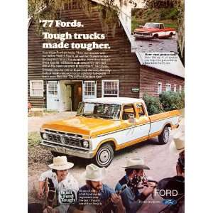 1977 Ad Ford Truck Pickup Twin I Beam SuperCab Rust