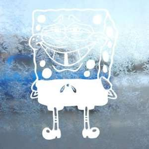 SpongeBob White Decal Squarepants Car Window Laptop White