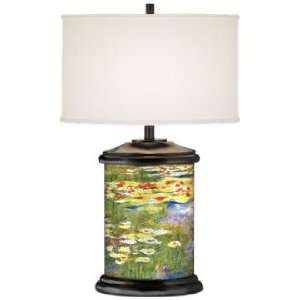 Lilypad Bloom Giclee Art Base Table Lamp