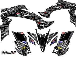 RAPTOR350 YAMAHA GRAPHICS KIT DECO STICKERS ATV QUAD 4 WHEELER FOUR