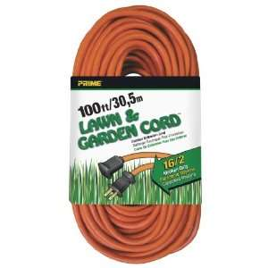 SJTW Lawn and Garden Outdoor Extension Cord, Orange