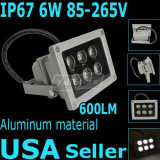 265V 600LM Outdoor LED Flood Light Lamp Pure White Spotlight