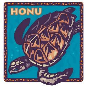 , Hawaii Sea Turtle   Hawaiian Art Decal   Car Window Bumper Sticker