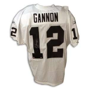 Rich Gannon Oakland Raiders Autographed White Jersey