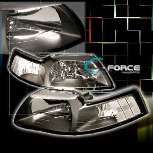 Ford Mustang Headlights Black Cobra GT Headlights 1999 2000 2001 2002