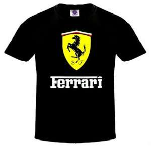 NEW FERRARI T SHIRT MEN EXOTIC CAR Black SHIRT Brand New