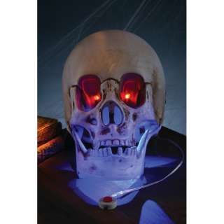 HALLOWEEN ANIMATED SKULL, LIGHT SOUND PROP DECORATION
