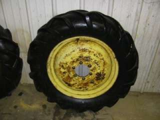 JOHN DEERE L TRACTOR ORIGINAL REAR RIMS & TIRES 22 RARE
