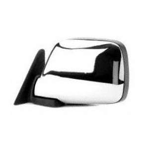 91 92 TOYOTA LAND CRUISER MIRROR LH (DRIVER SIDE) SUV, Manual, Chrome