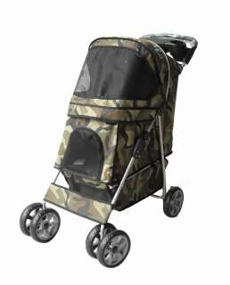 New Heavy Duty Camouflage Pet Dog Cat Stroller Carrier