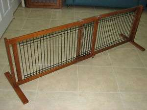 Crown 21 Inch Freestanding Wide Wood/Wire Pet Gate