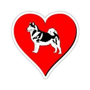 Alaskan Malamute Love   Window Bumper Sticker