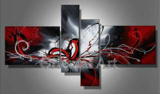 4pc Huge Modern Abstract on Canvas Oil Painting Art (no framed)