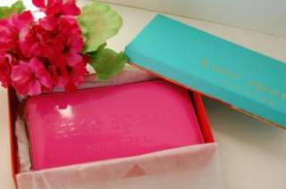 Box Kate Spade Big Apple Neda Patent Leather Zip Wallet Gifting Pink