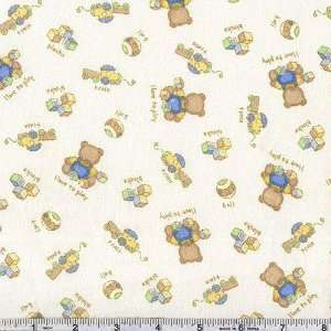 Love to Play Bears Cream Fabric By The Yard Arts, Crafts & Sewing