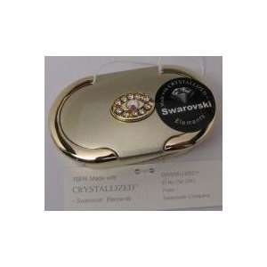 Swarovski Crystal Elegant Gold Pill BOX Case Oval 3