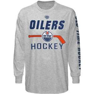 Edmonton Oilers Gray Gipper Long Sleeve T shirt