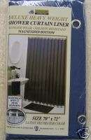 HEAVY DUTY SHOWER LINER W/MAGNETS & GROMMETS NAVY BLUE