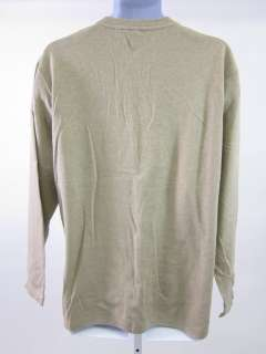 BOSS HUGO BOSS Mens Tan Cotton Long Sleeve Shirt Sz XL