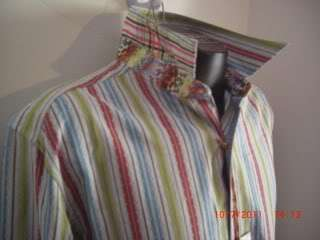 Robert Graham Mens Casual Shirt Pattern Pink Aqua Grey Lime X Large $