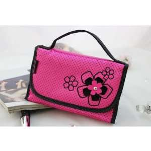 New Adorable Daisy Love Hot Pink Makeup Organizer Beauty