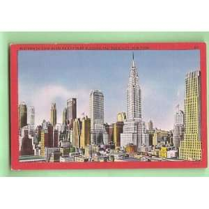 Postcard Midtown New York City Skyline