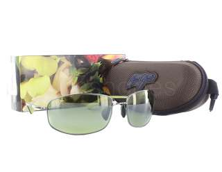 NEW Maui Jim Fleming Beach HT321 15A Gunmetal with Green / Maui HT