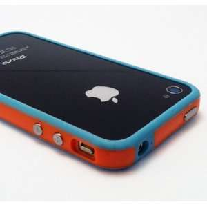 Orange and Baby Blue Premium Bumper Case for Apple iPhone