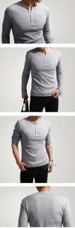 New Fashion Mens Shirt Dexter Kill Shirt Henley Long Sleeve Slim Tee