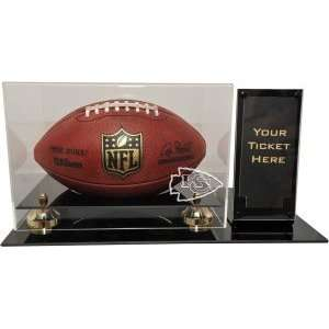 Kansas City Chiefs Deluxe Football Display with Ticket