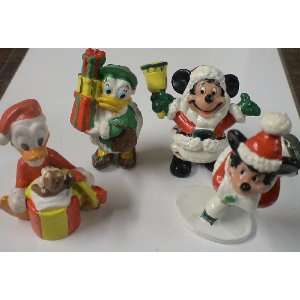 Pvc Figure Set of 4  Mickey Mouse Minnie Mouse Donald and Daisy Duck
