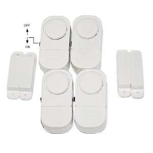 Mini Door & Window Contact Alarm & Chime Set of 4
